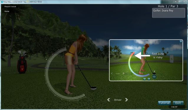 Golfing tutorial in action