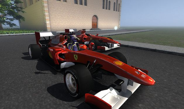 ... and as I know you enjoy Formula 1, here's a Ferrari (sorry, couldn't find a Merc or McLaren) from 2010 by SL user Timmi Allen