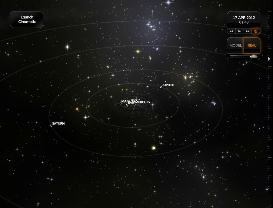 views of real solar system -#main