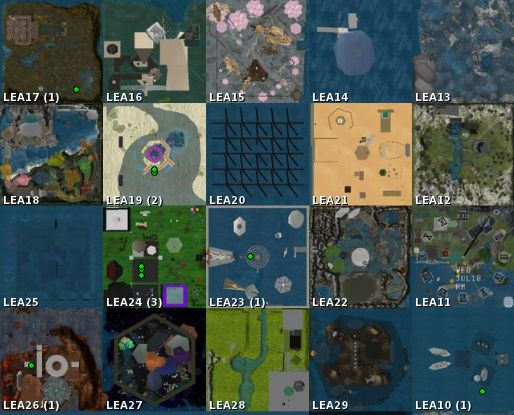 Land grant regions: LEA10 through LEA29