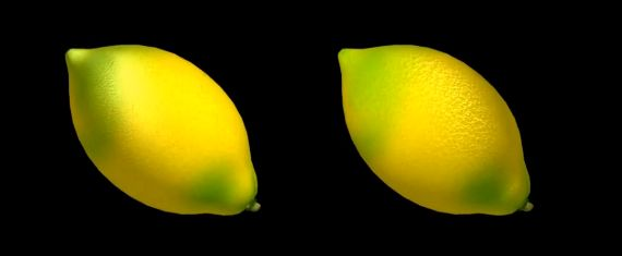A rendering of a lemon using diffuse, normal and specular maprs to create a life-like look and feel