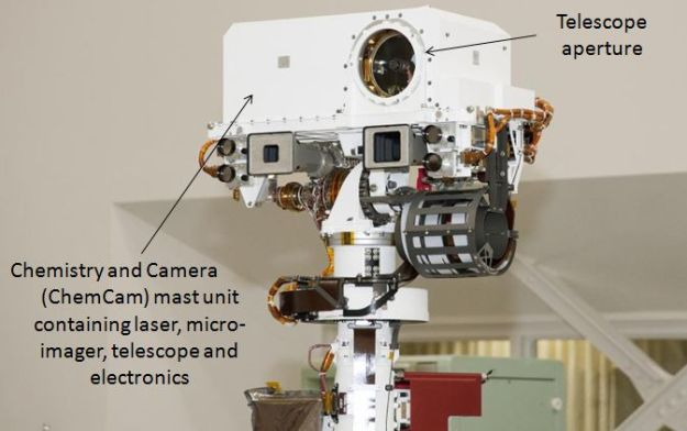 The ChemCam mast element on Curiosity