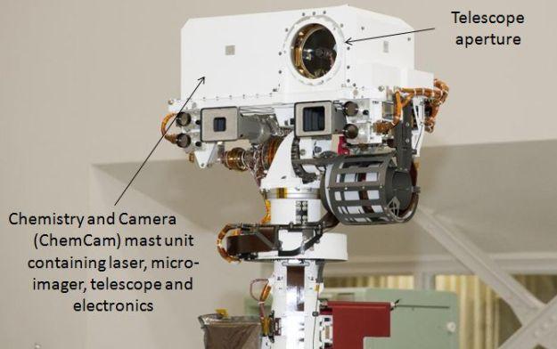 The ChemCam mast element on Curiosity