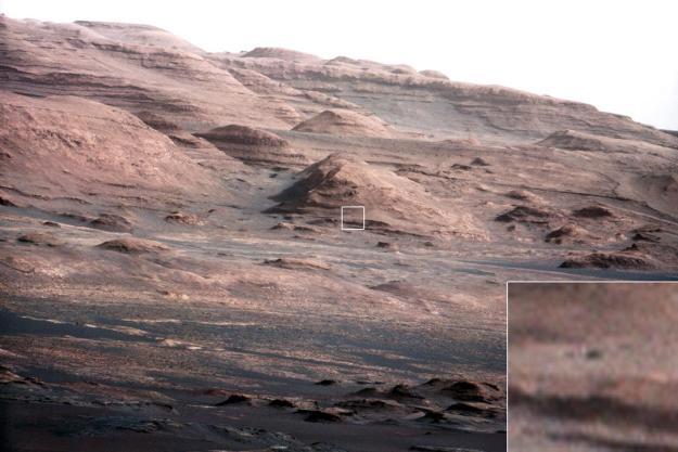 """The slopes of """"Mount Sharp"""""""