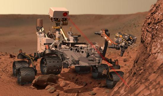 Curiosity, seen here in an artist's impression working on Mars, suffered its first software reset on November 7th