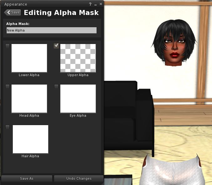 To lighten the rendering load, it is suggested the transparency checkboxes are used for creating alpha masks when using the Edit Floater, rather than applying a transparent texture