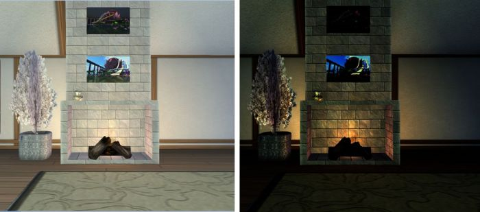 A simple, if extreme, example of gamma correction: both images were taken under the same lighting conditions