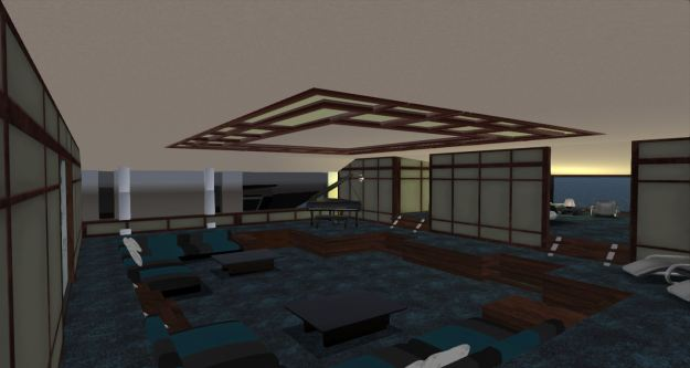 The revised lounge, with a bedroom area beyond