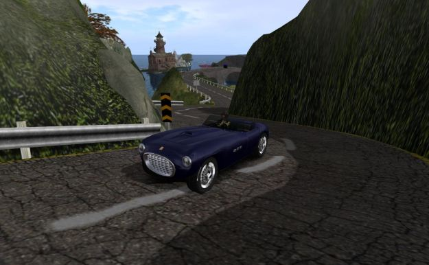 Driving through the mountains of Second Norway in my GT43 S