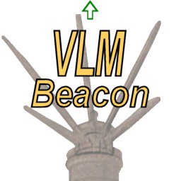 The VLM Location Beacon logo