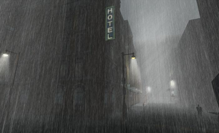 """It was raining in the City -- a hard rain ..."" - The Silent Peacock Hotel, starting-point for a grid-wide investigation of Room 326"