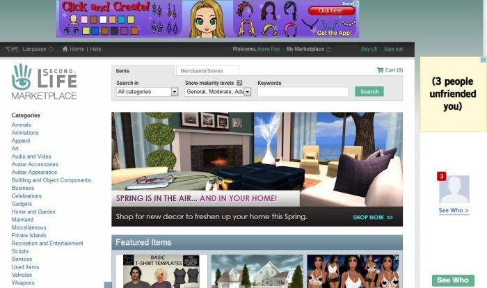 Ads now on the SL Marketplace - although initial offering suggest some refinement of the filters might be in order