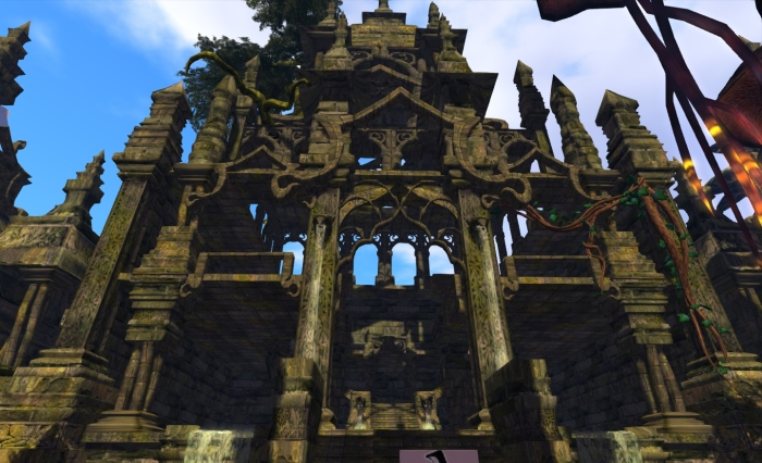 One of the imposing structures featured in Elicio Ember's Nu Orne build for Fantasy Faire 2012