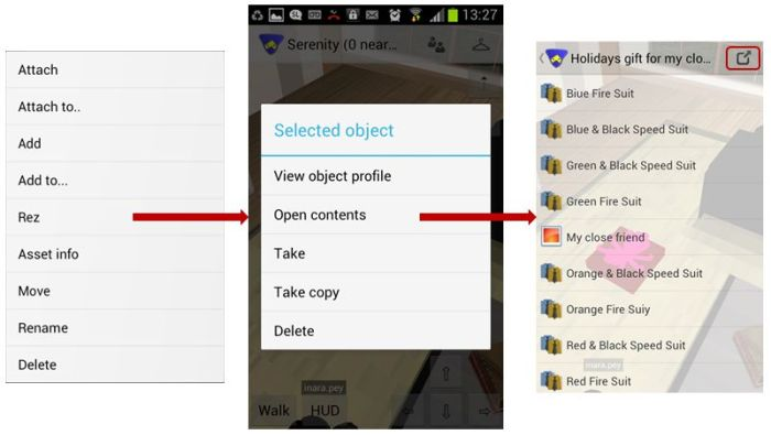 Objext rezzing from inventory & copying / moving the contents of an object back to inventory