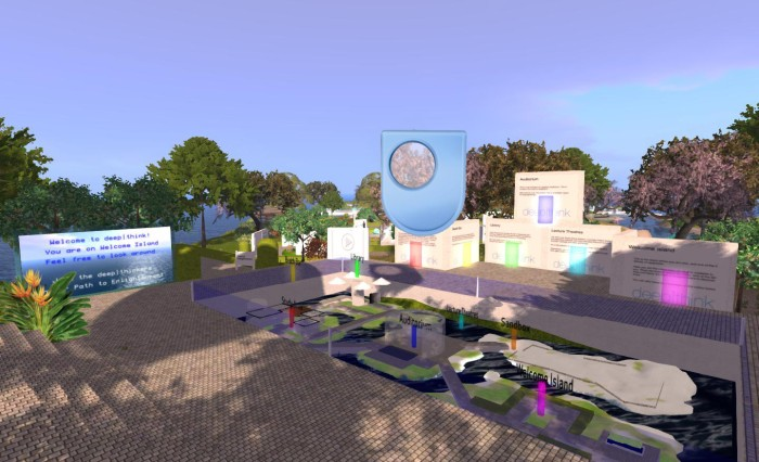 Deep Think East - one of the regions operated by the UK's Open University, one of the educational organisations which still operates within Second Life
