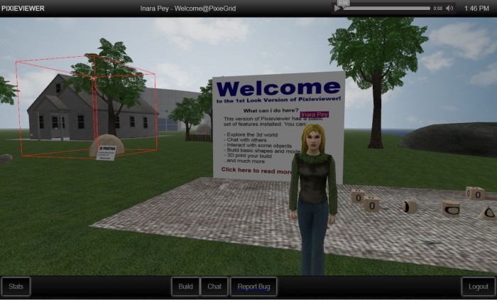 PixieViewer: accessing OpenSim through a web browser