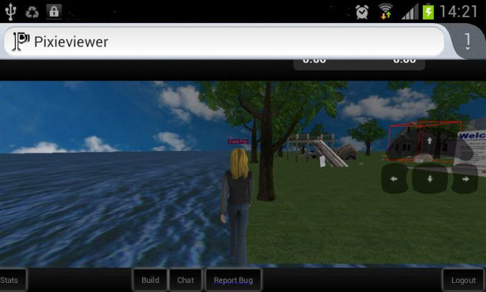 Pixieviewer on the Galaxy S2