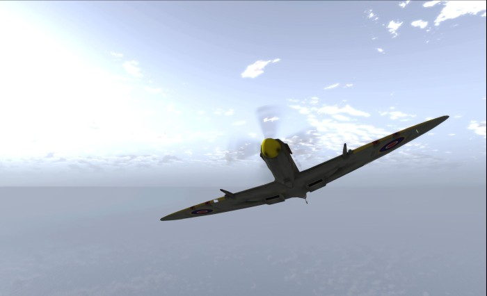 Flying in SL is something I really enjoy - region crossings and all. Erick Gregan generously presented my with a Spitfire Mark IX in 2012; it's a true joy to fly