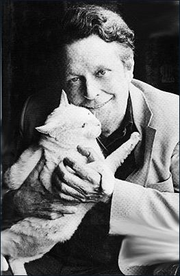 Cleveland Amory and Polar Bear the cat