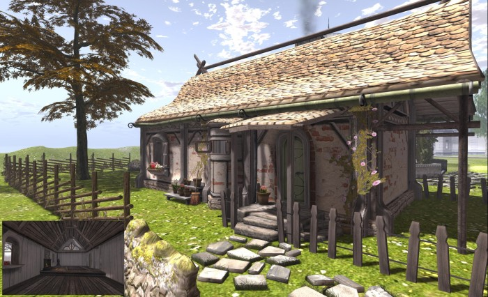 The Quaint Cottage and (inset) the interior