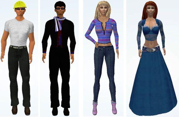 The four avatar styles