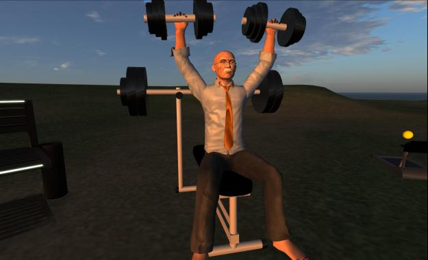 Maestro Linden likes to keep fit while chairing the Server Beta meeting