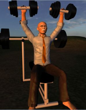 Maestro Linden likes to work-out during meetings