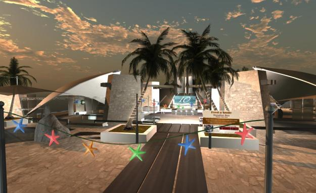 The stage area and dancefloor at the main SL10B by Us region