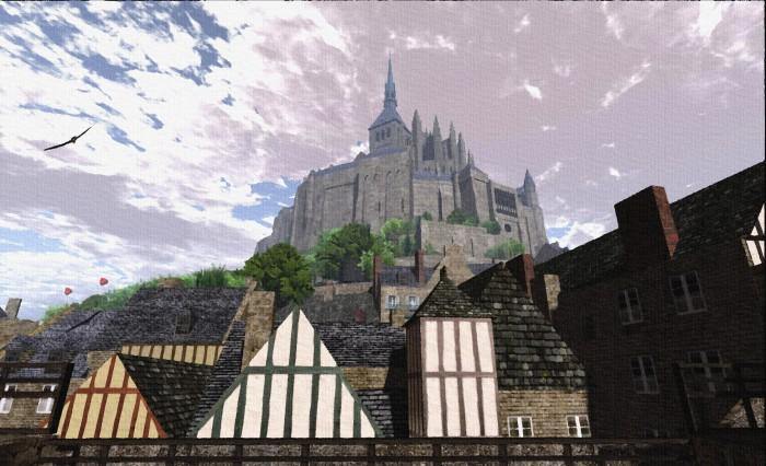 Mont Saint-Michel (post-processed)