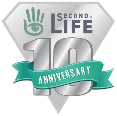 logo 10 anniversario second life