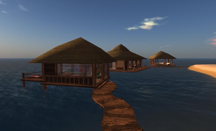 The Tiki Beach area
