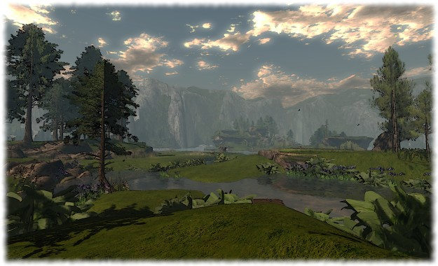 Calas Galadhon: looking from South Farthing toward Eryn Vorn
