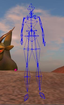 Avatar collision bones (image courtesy of Gaia Clary)