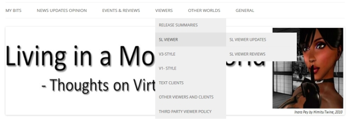 News menus - hopefully an easier means of finding article categories