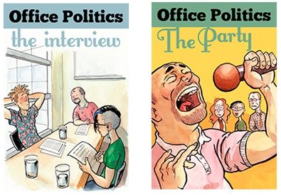 The Office Politics titles, by Deirdra Kiai, were written for the original Versu app, and might appear with the new Versu in the future