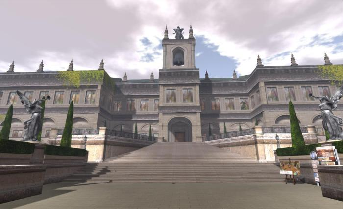 Angel Manor - a fitting venue for displays of fine art in SL