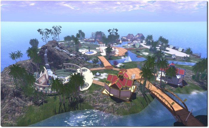 Virtual Ability Island - the hub of Virtual Ability's work in Second Life