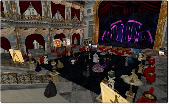 The ballroom and party