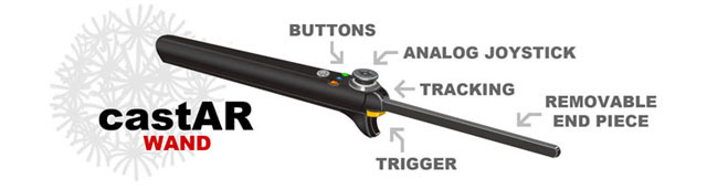 The castAR wand (image coutesy of Technical Illusions)