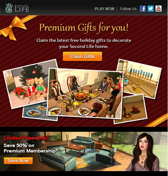 The image accompanying the Premium promotion e-mail