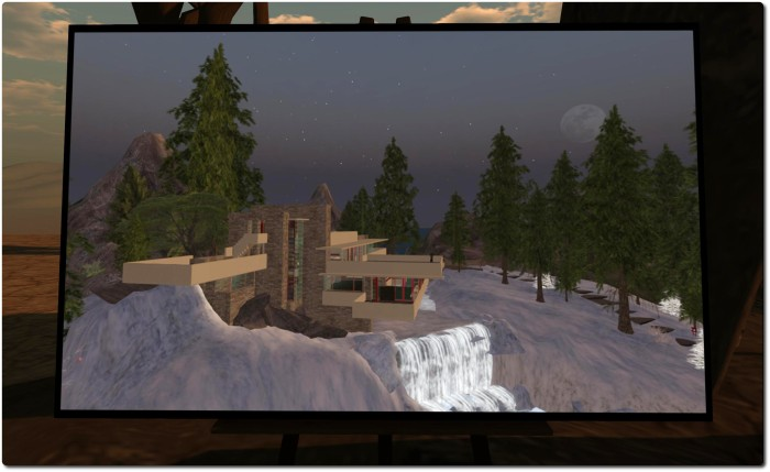 Fallingwater from the Frank Lloyd Wright Virtual Museum, 2010 - Ziki Questi, Lost Second Life