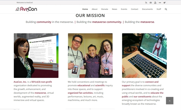 Part of the revamped AvaCon website