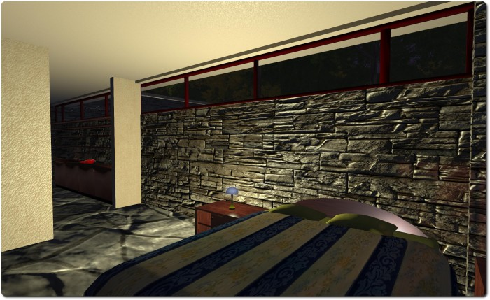 A better feel for the stone walls using the guest house wall as an example