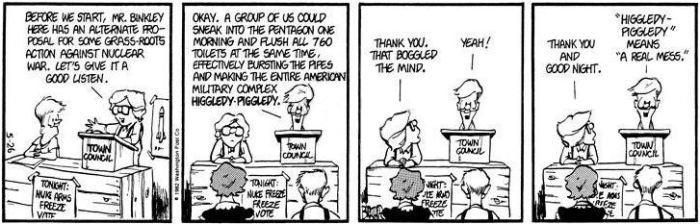 Higgledy-piggledy explained courtesy of Mr. Berke Breathed