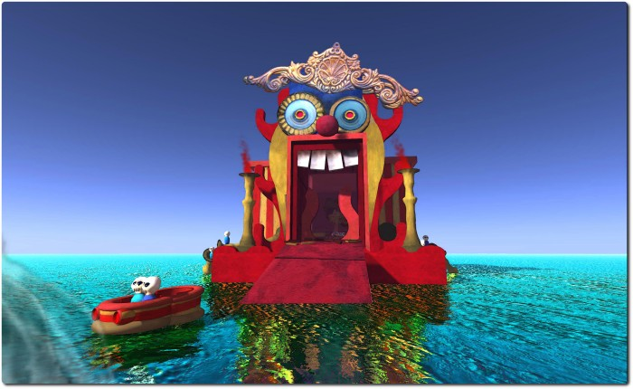 "Carival Discarida funhouse, recreated in SL for the collaborative LEA installation ""Rafts"""