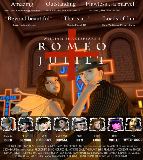 Romeo + Juliet production poster (courtesy of Canary Beck)