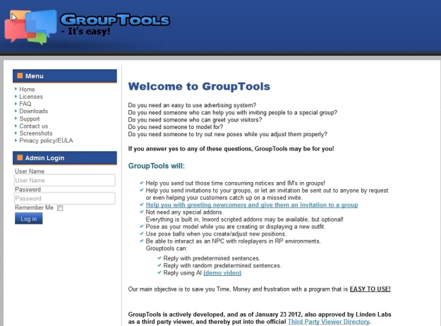 The revamped Group Tools wesbites is cleaner and easier to read