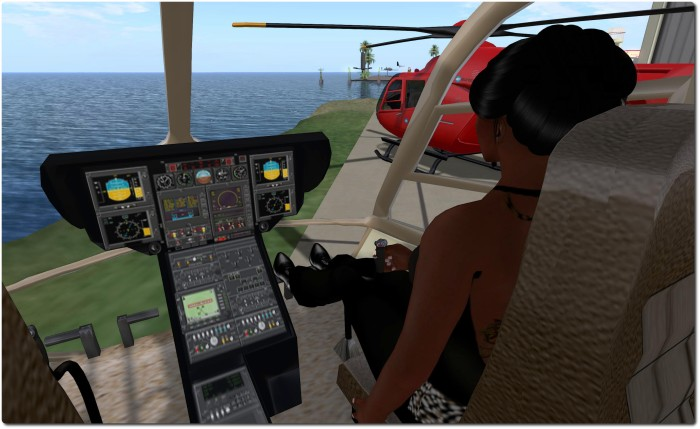 Spijkers Aviation & Marine EC-135 - the controls are ideal for my avatar's height