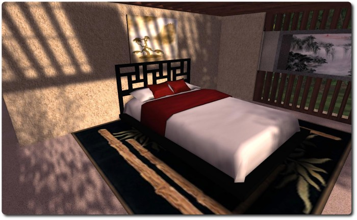 And another Asian-style design for the bed