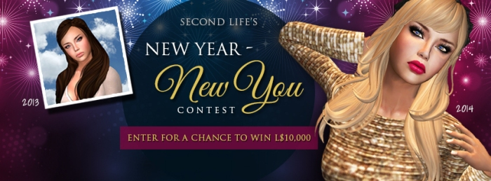 "The ""New Year, New You"" 2013 competition poster, courtesy of Linden Lab"